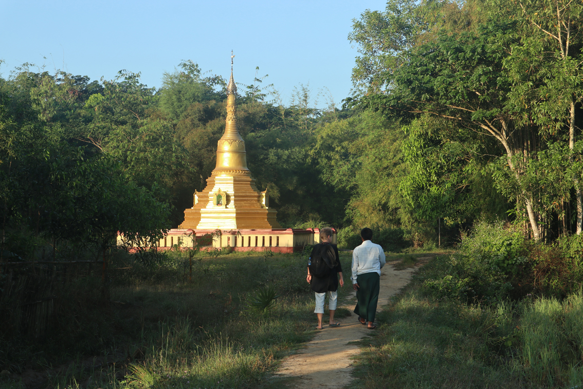 A fine gold pagoda for a tiny village