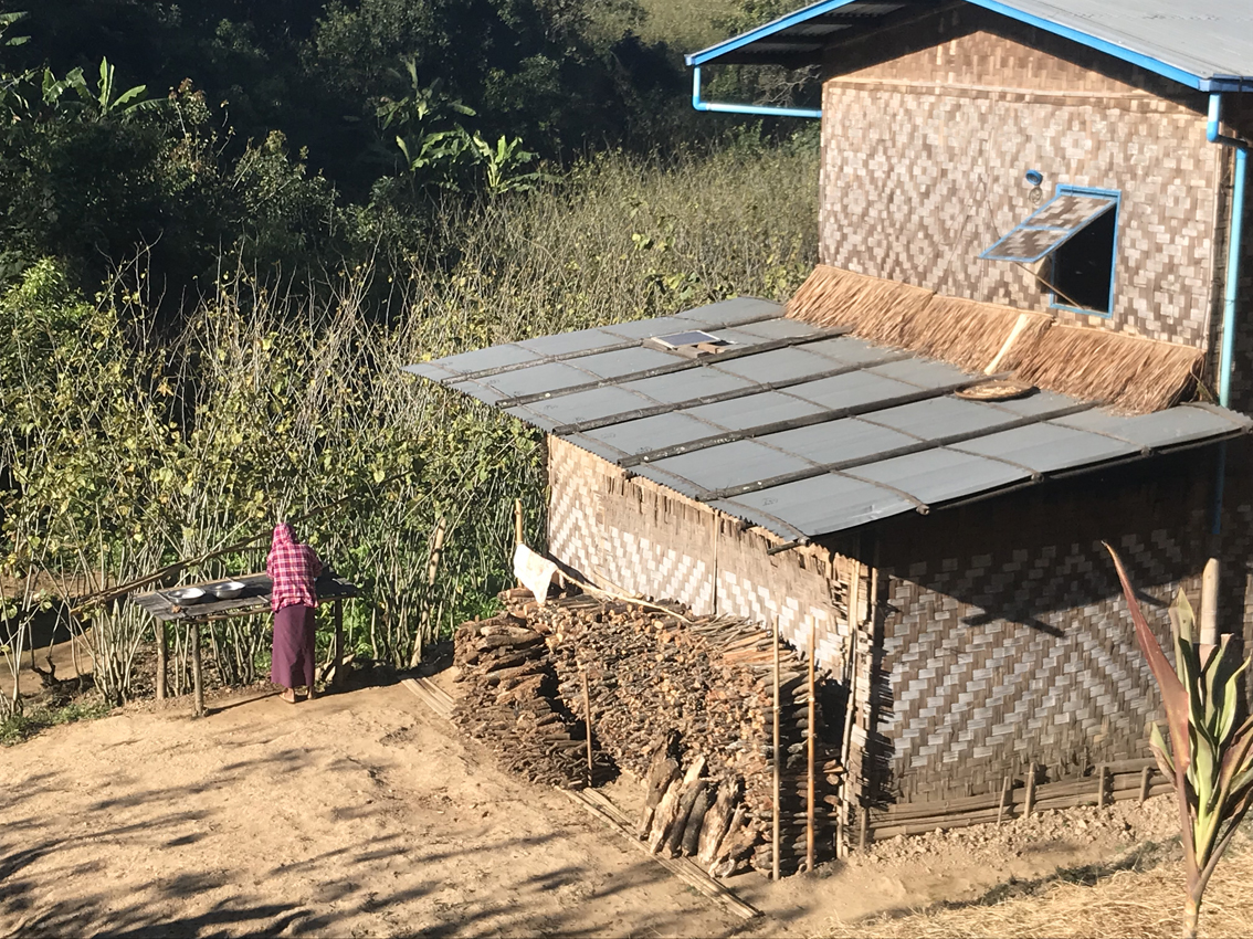 Washing up facilities in Koung Soung village