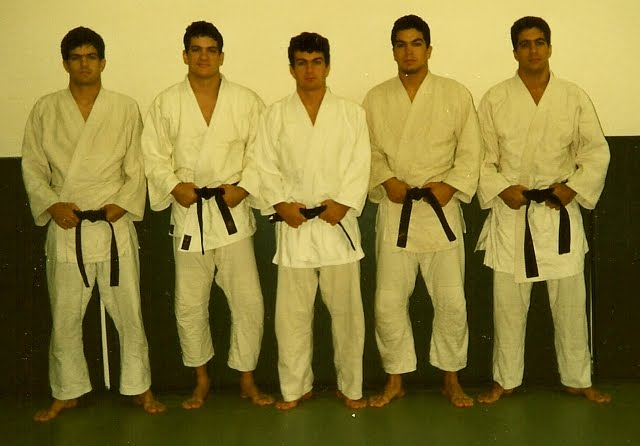 Rigan (2nd from left) with his brothers Jean Jacques, Carlos, John and Roger