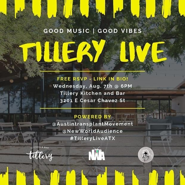Enjoy beautiful scenic views of the Colorado River, a delicious menu, 3 amazing live musical performances, and more!  Sounds by: @djshani  Live Performances by: @iampat_g, @rcmccree92, and @paris_aryanna Free rsvp at the link in bio and follow #tilleryliveatx for more event details! See you there! 
