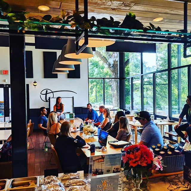 "Reset @tilleryatx today hosting entrepreneur workshop on ""burn-,out."" Who doesn't experience that?  #6 on list to help - experience the outdoors...sunshine and great views. We got what you need.☀️🌳 Follow @resetatx for future topics.  #tillerykitchenandbar  #community #512austin  #austinrestaurant  #austinvenue"