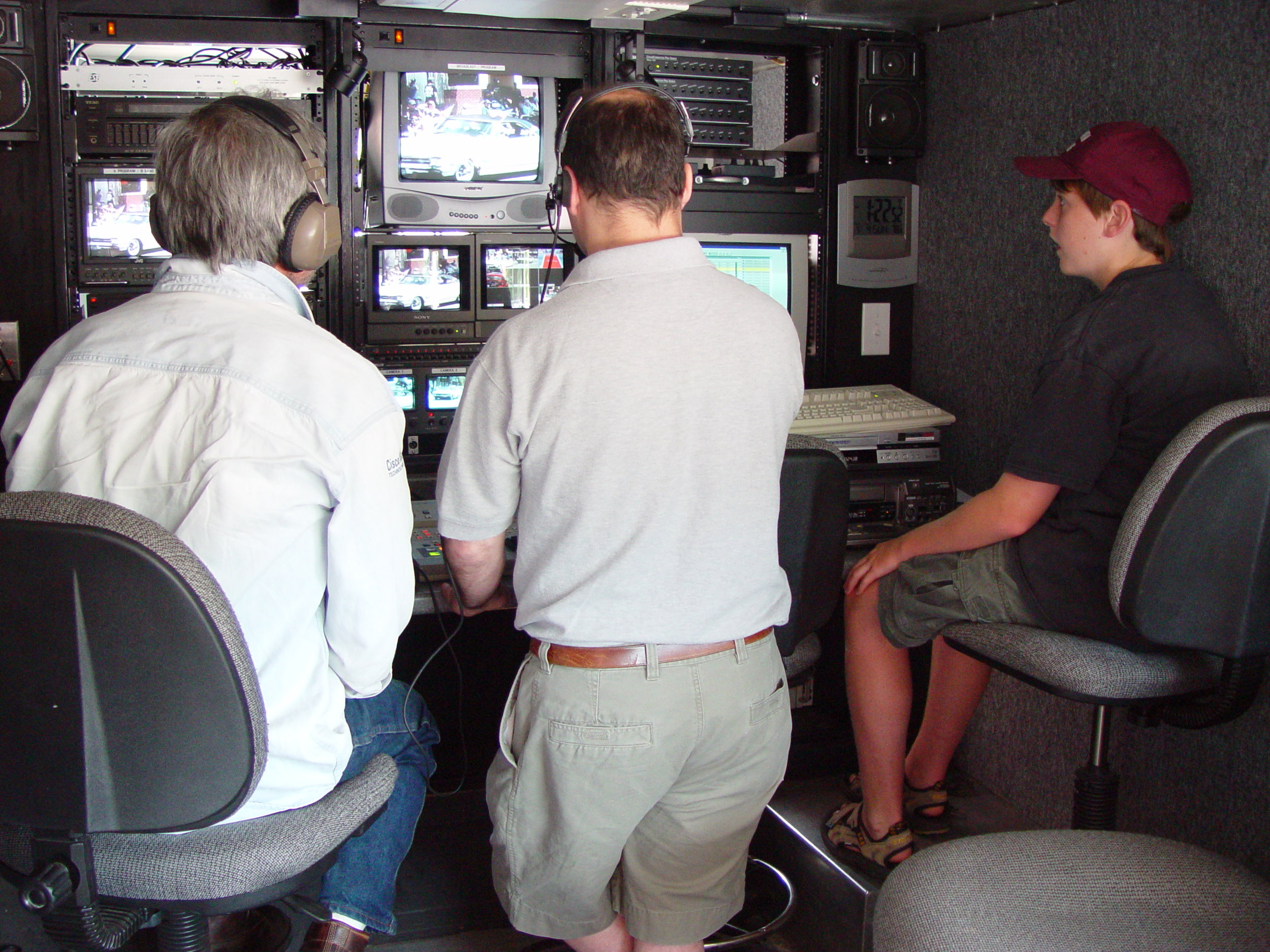 PRODUCTION IN THE OLD TRUCK.JPG