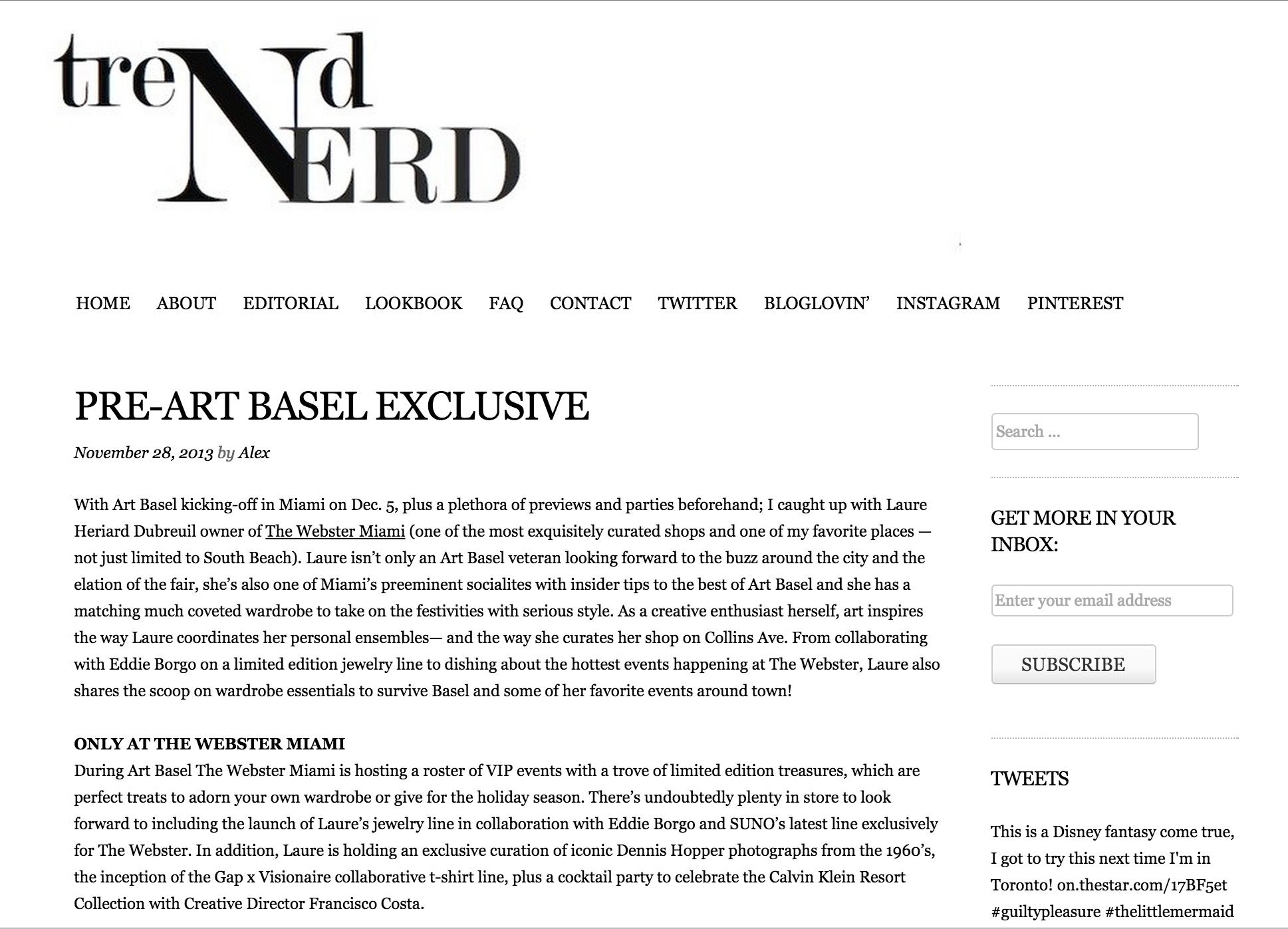 Trend Nerd, 2013 (1/3)