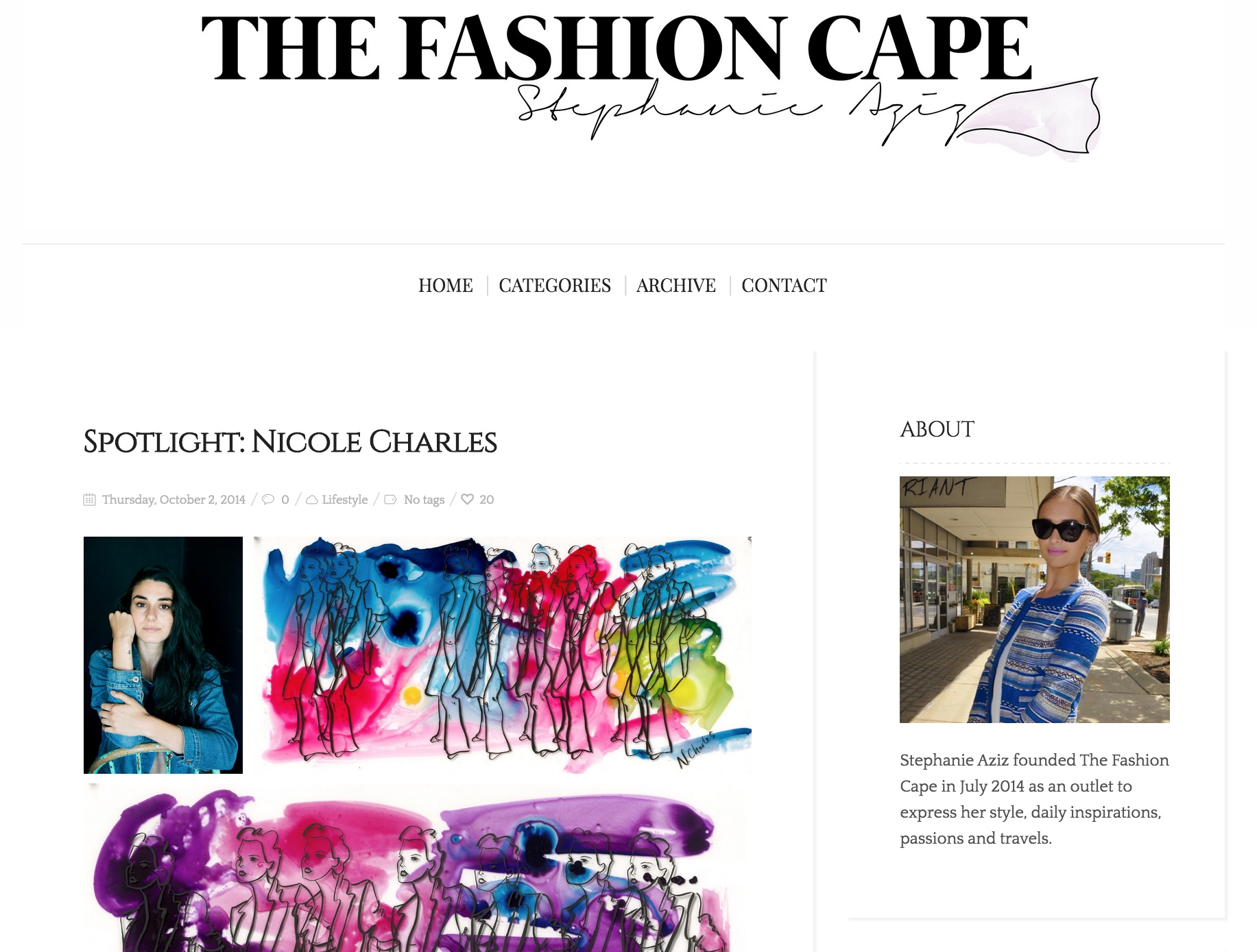 The Fashion Cape, 2014 (1/2)
