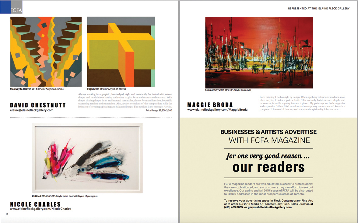 Fleck Contemporary Fine Art Magazine, 2014
