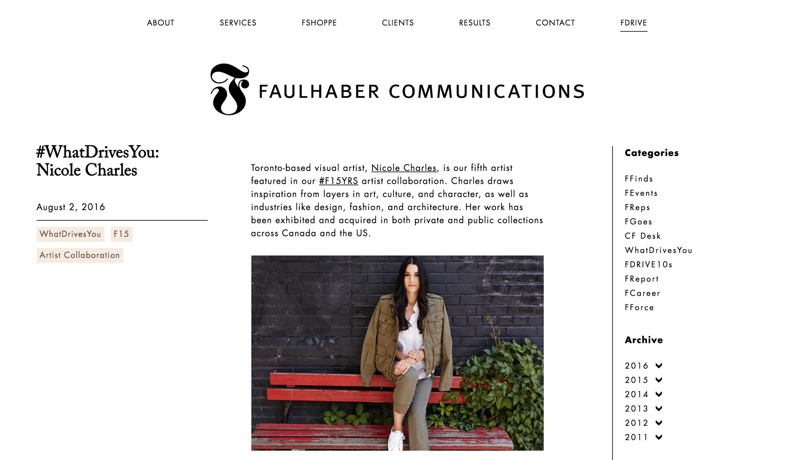 Faulhaber Communications, 2016