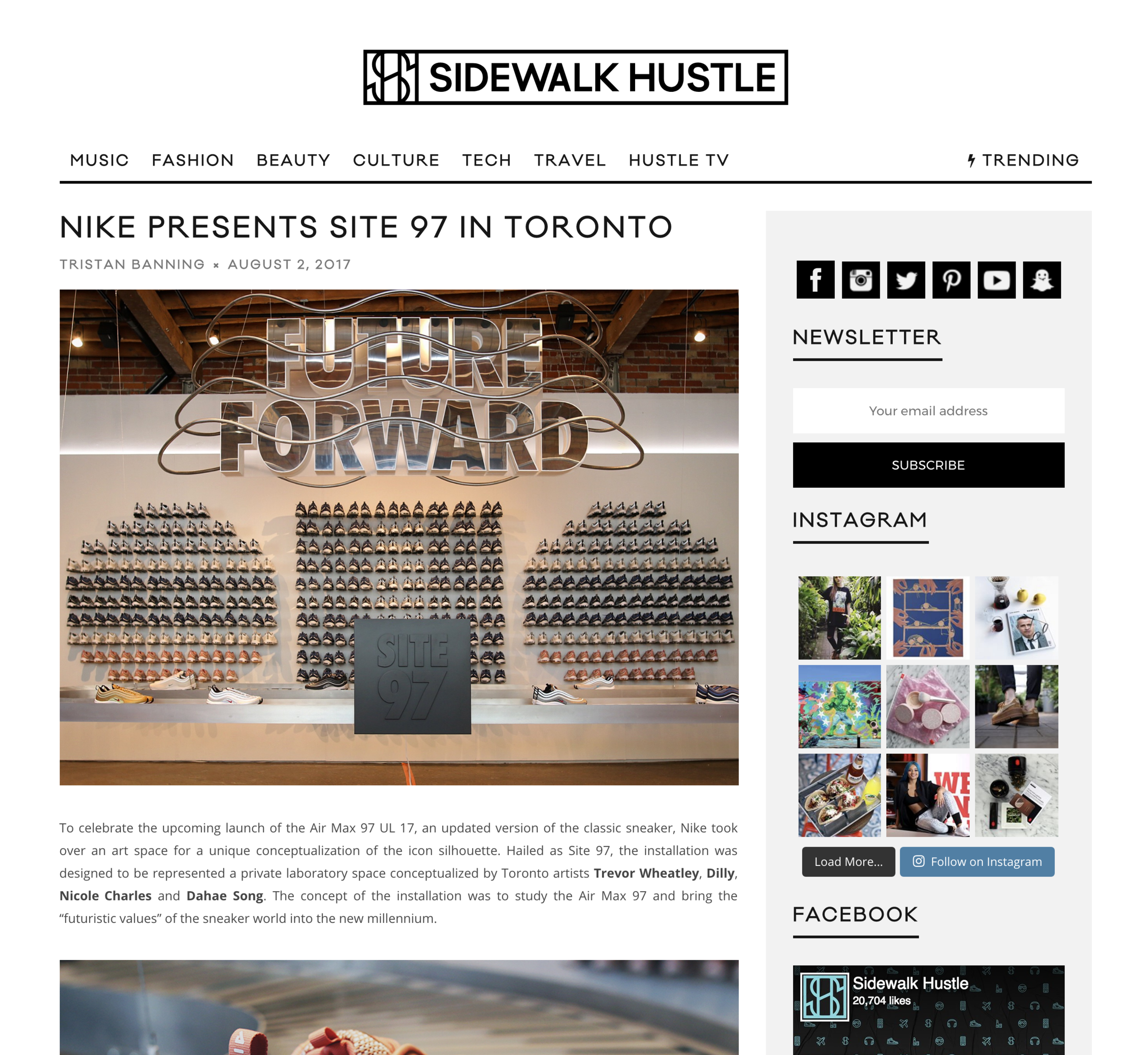 Sidewalk Hustle, 2017