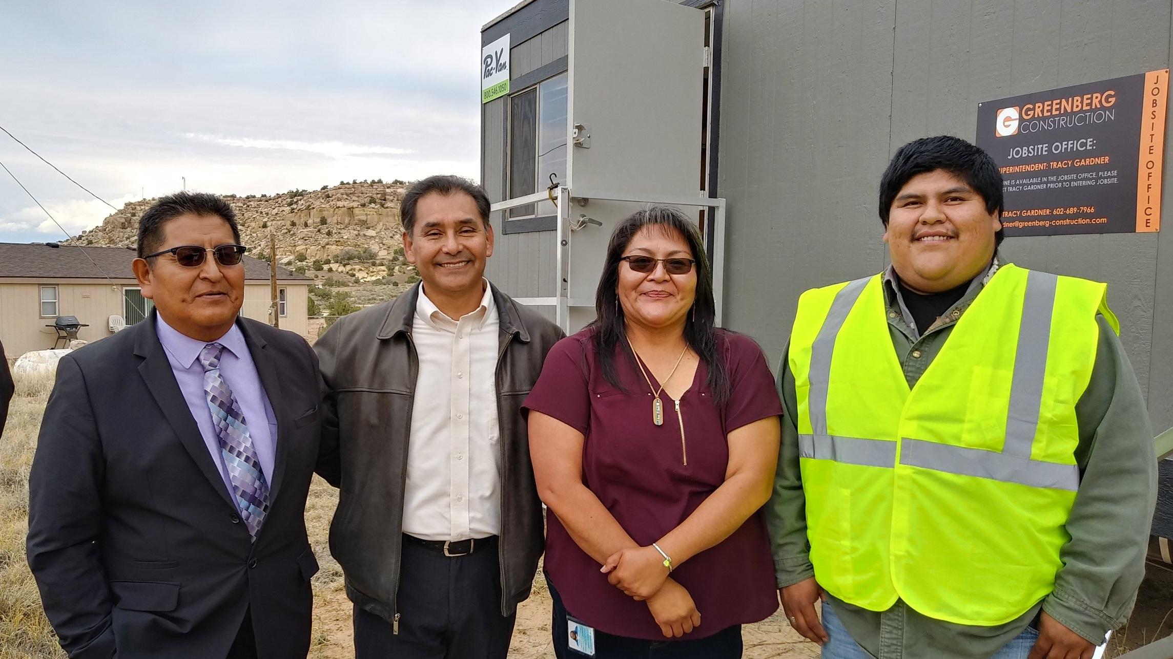 Hopi Tribe and Melvin Consulting Team (left to right): Clarke Tenakhongva, Daryl Melvin, Cheryl Tootsie, Darron Tewa