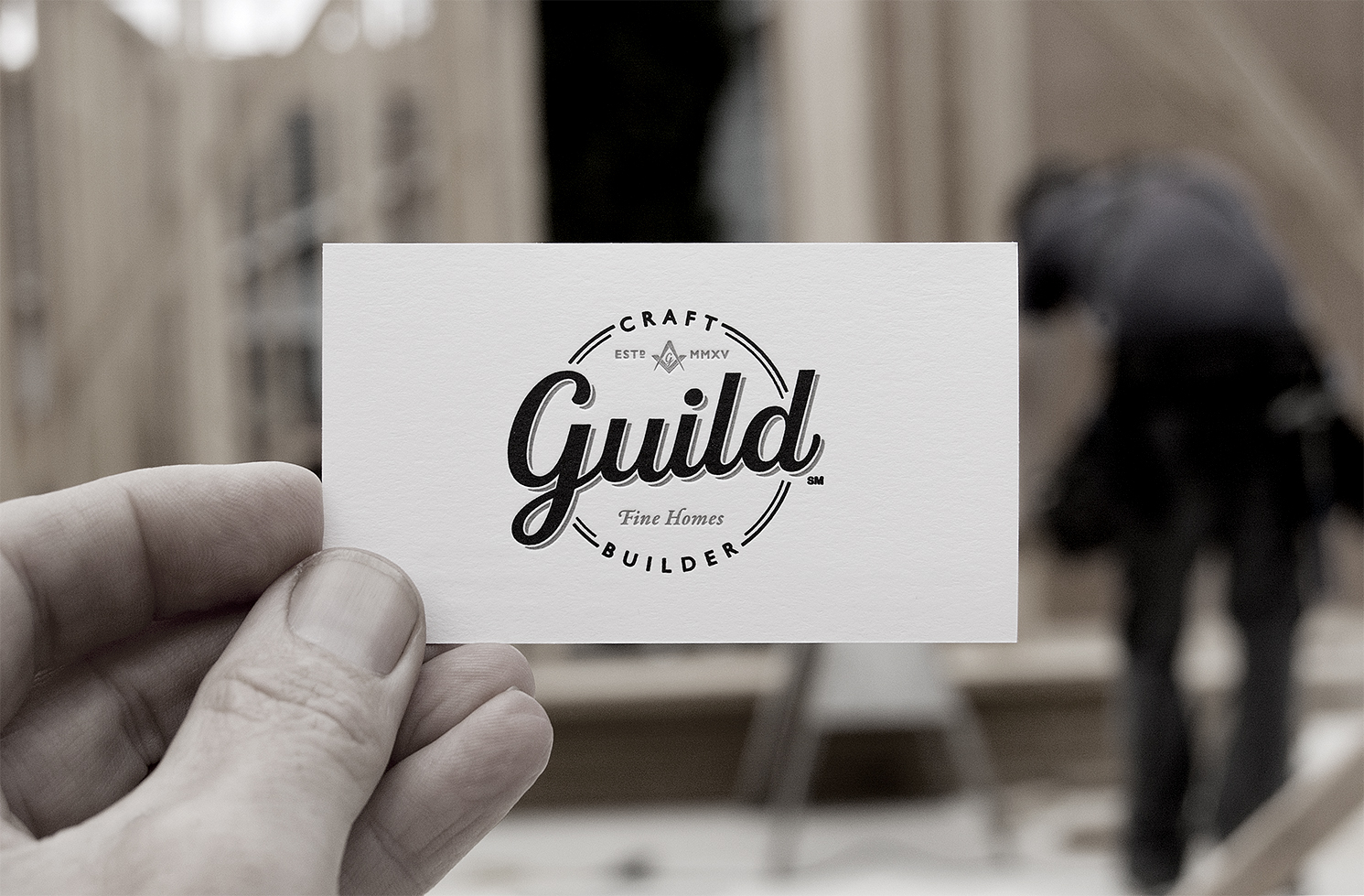For our business cards, our new logo was printed using letterpress printing on heavy craft paper.