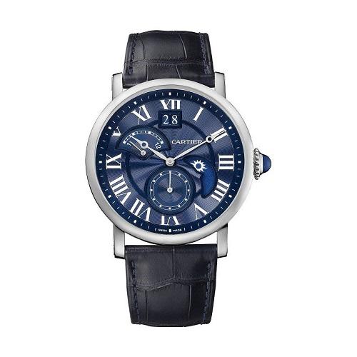 Cartier Rotonde-de-cartier-second-time-zone-day-night-blue