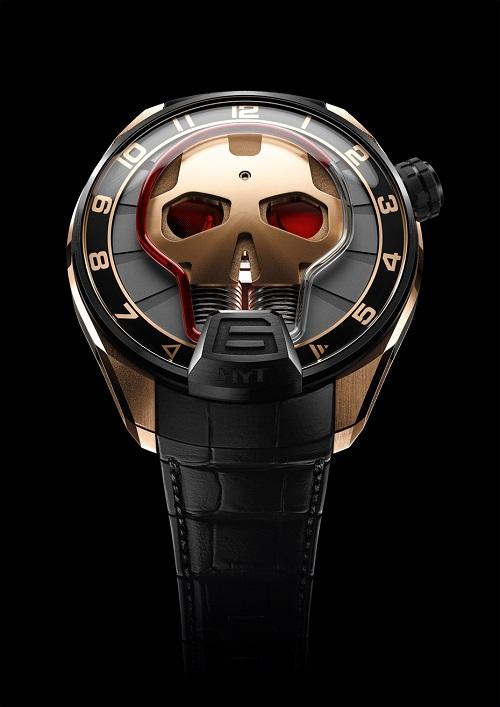 HYT skull rose gold titanium