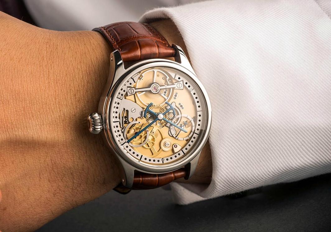 Garrick S1 with blued marine chronometer hands