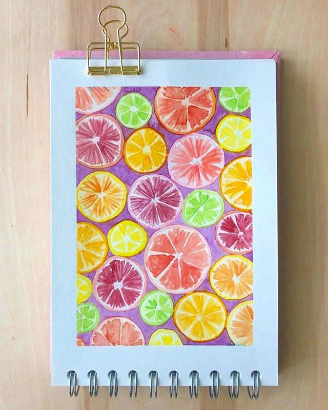thank you @naptimepress for this awesome watercolor rendering of my citrus print! 🍊