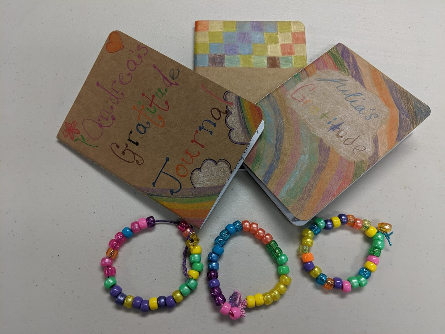 - Today, in Crafty & Calm Kids Relaxation Series (ages 9-13) we made these beautiful gratitude journals and meditation bracelets! Next week, we will be creating peace rocks and positivity cards.There's still space for your child to join us on 10/12 and 10/19!Register: www.shiningkidsyoga.com/workshops