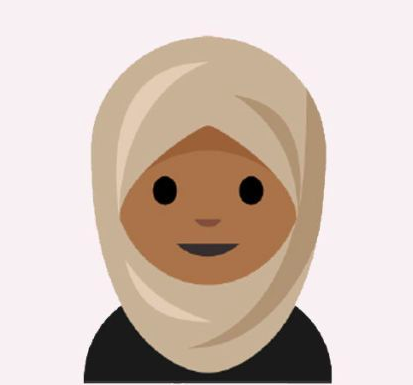 Image from the hijab emoji proposal by graphic designer Aphee Messer