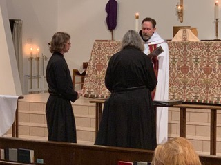 Br. Carter professes his first vows.