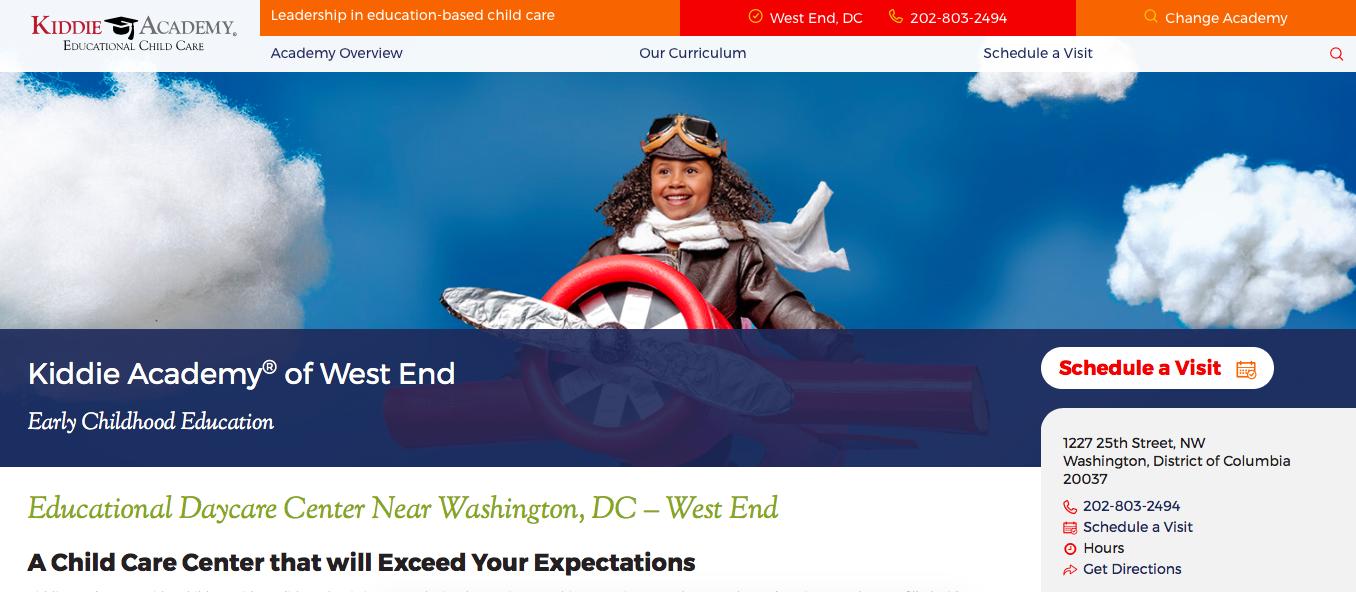 Kiddie Academy DC West End Homepage