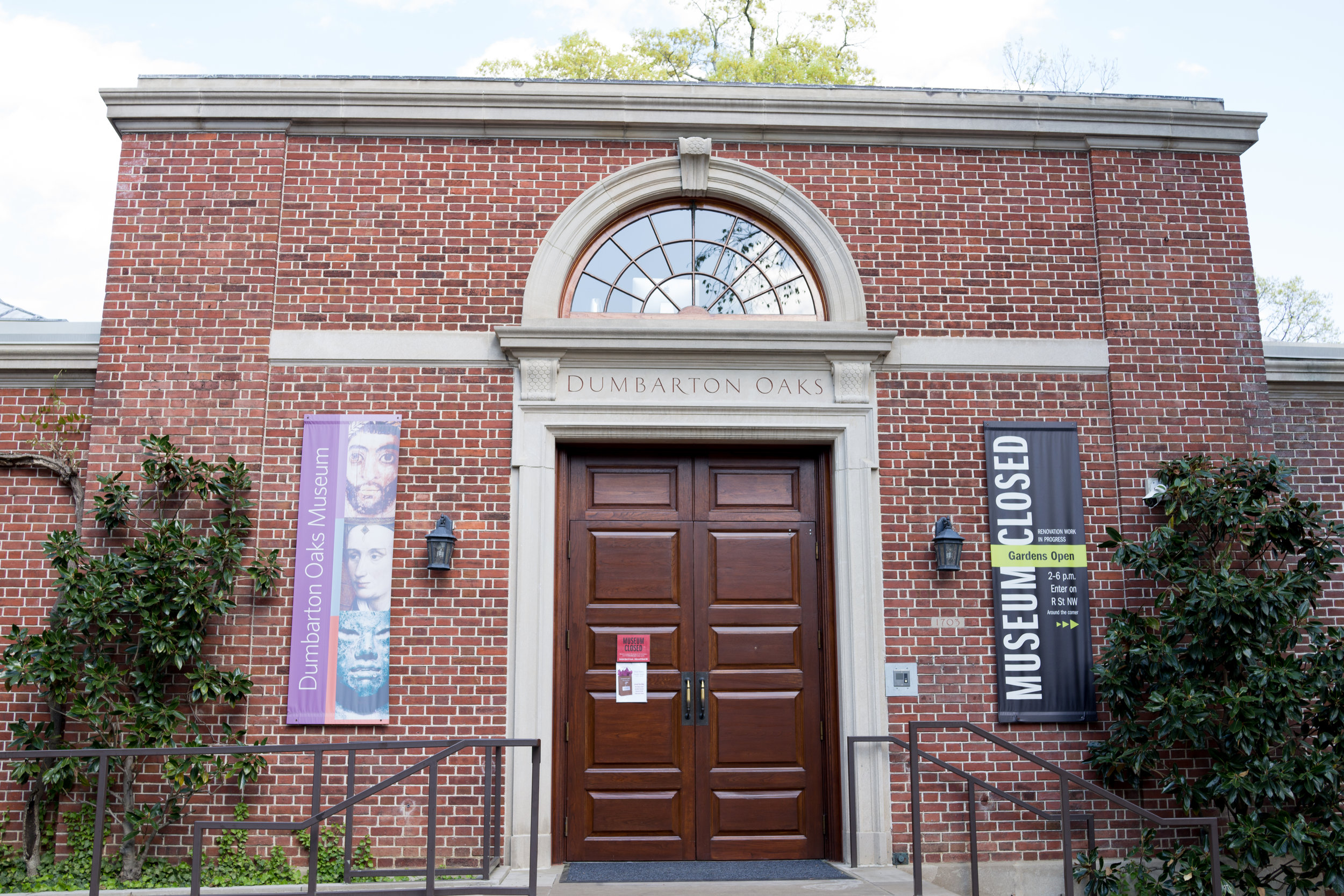 Front door of Dumbarton Oaks Museum