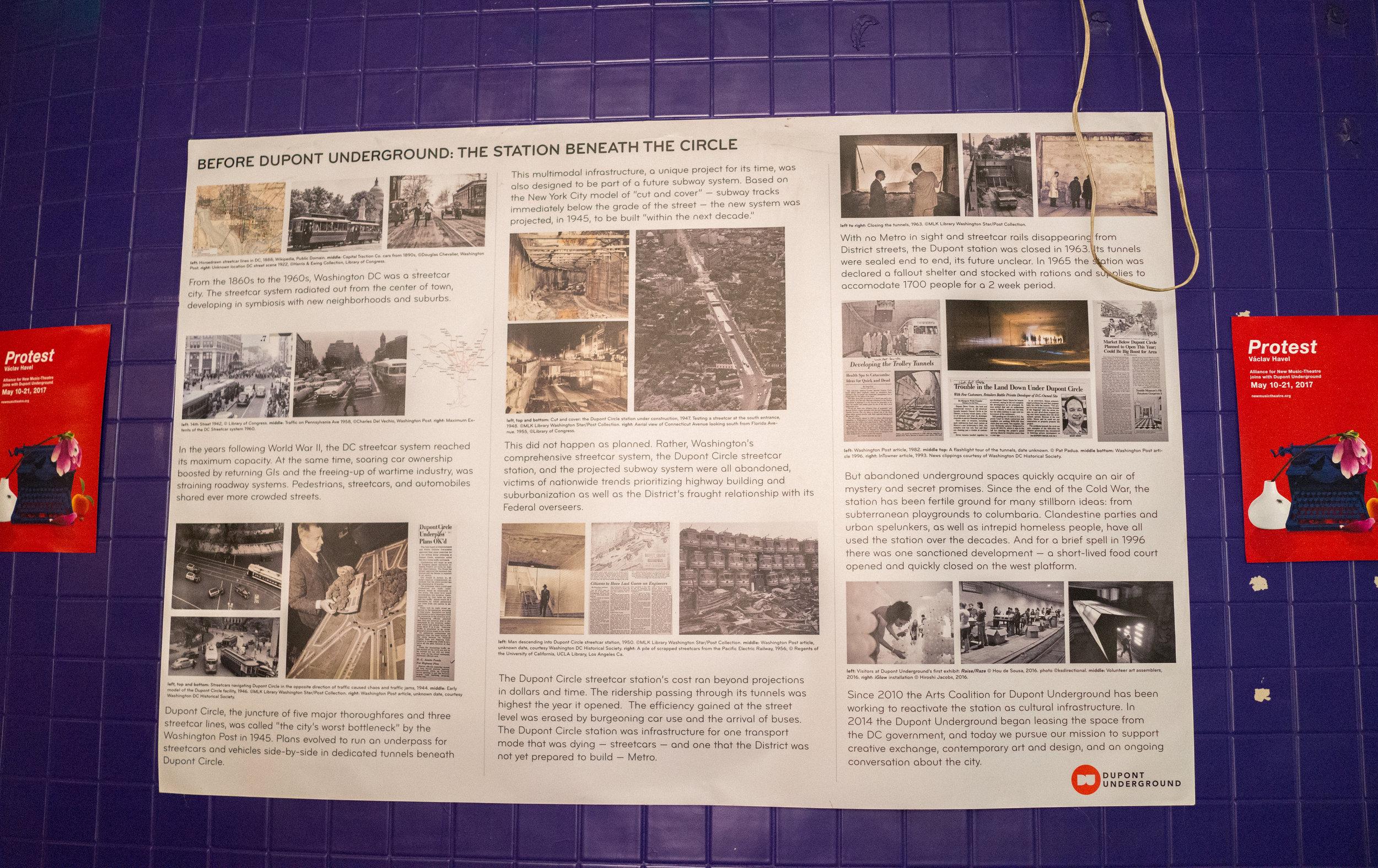 Dupont Underground History Poster