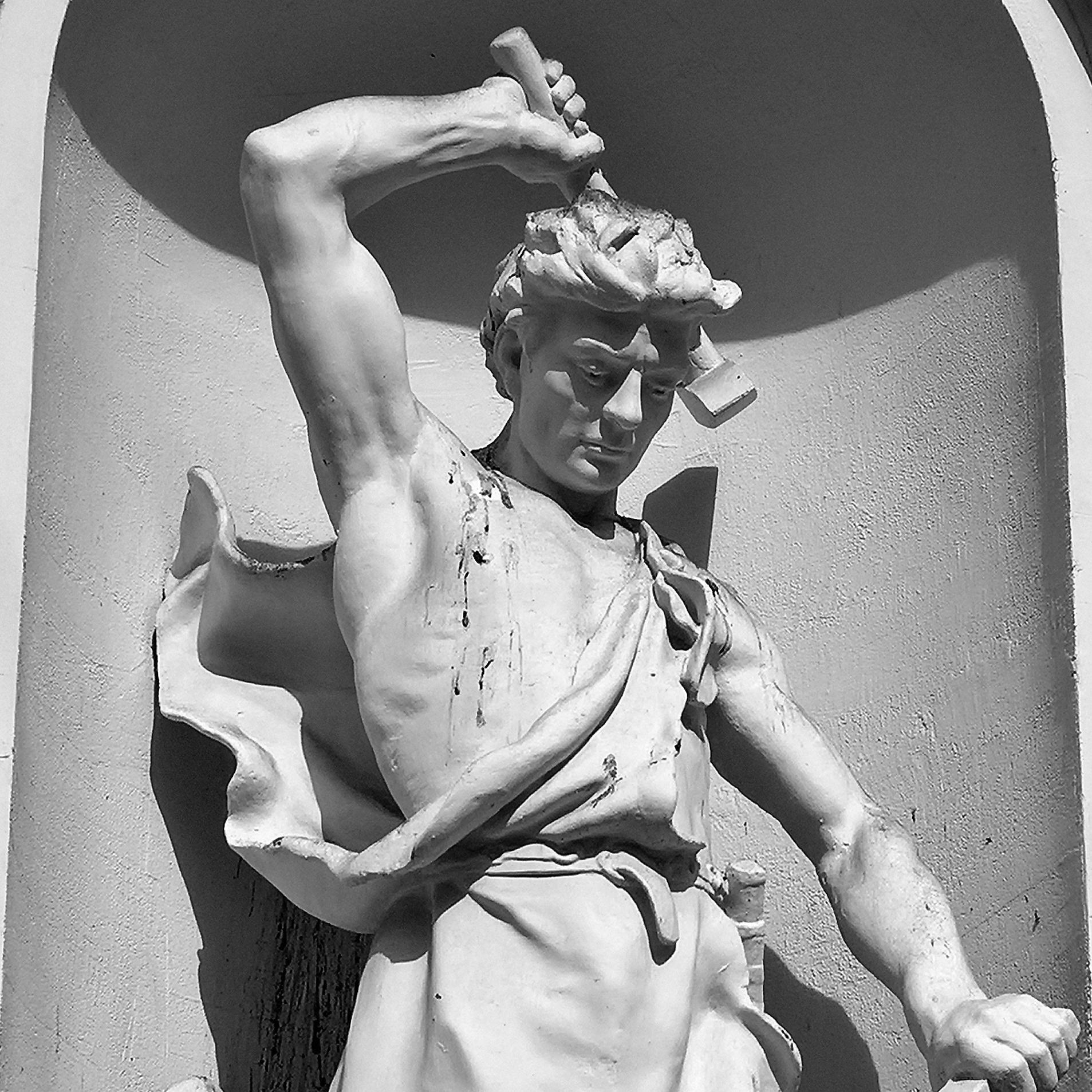 Statue of Ilmarinen at the Student House in Helsinki