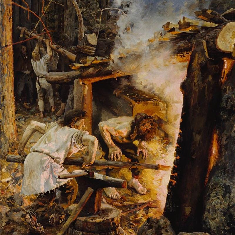 The Forging of the Sampo - The Bridgeman Art Library, Object 476496