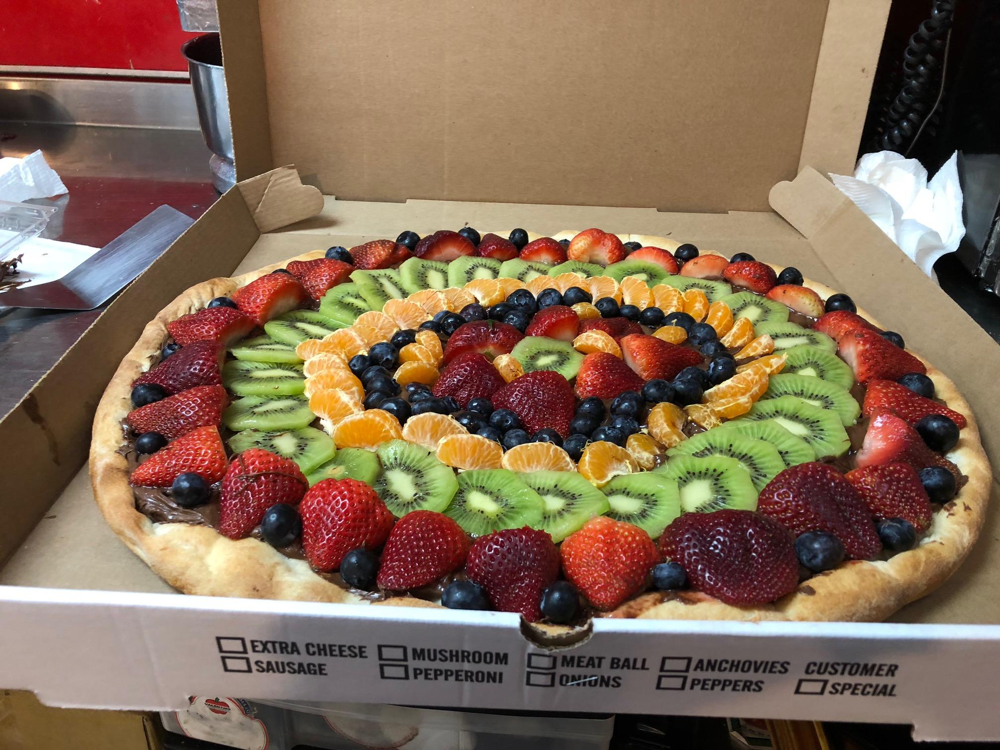 Fresh Fruit & Nutella Pizza!