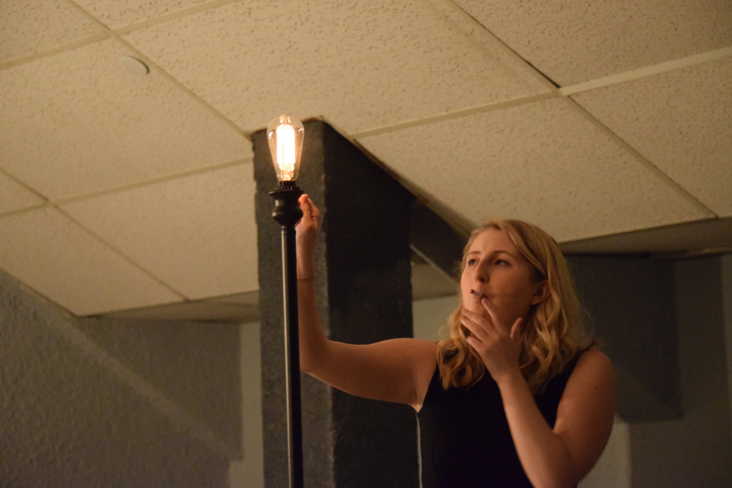 Christine in  After Miss Julie . (Photos by Courtney Beyer.)