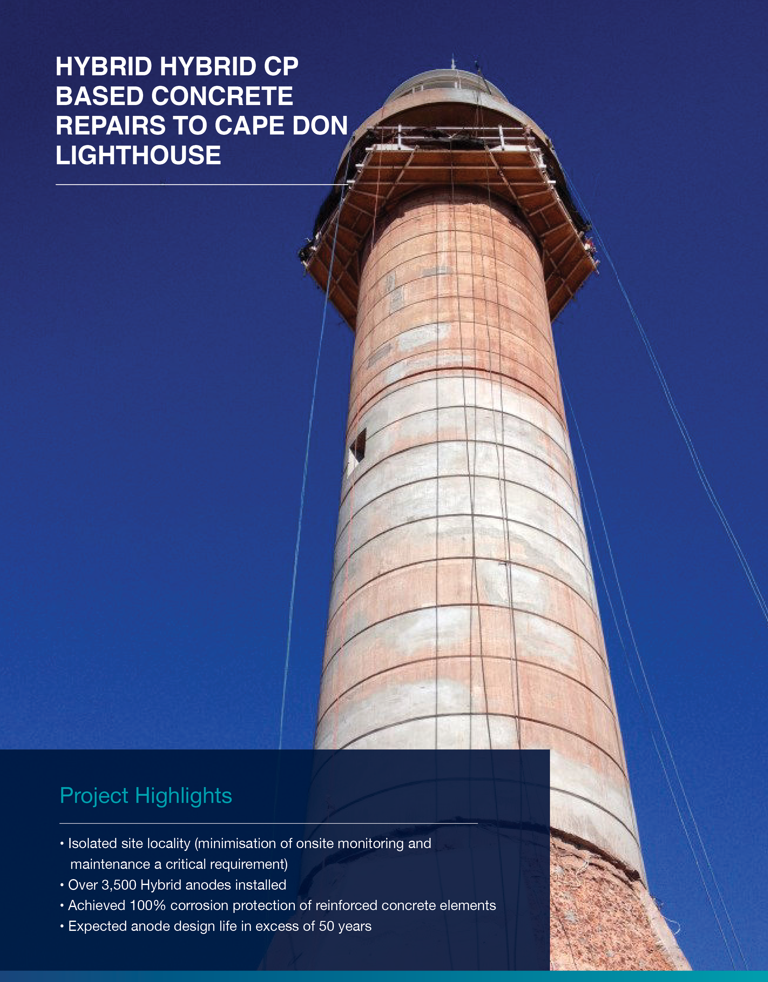 Click to view  Cape Don Lighthouse  Case Study