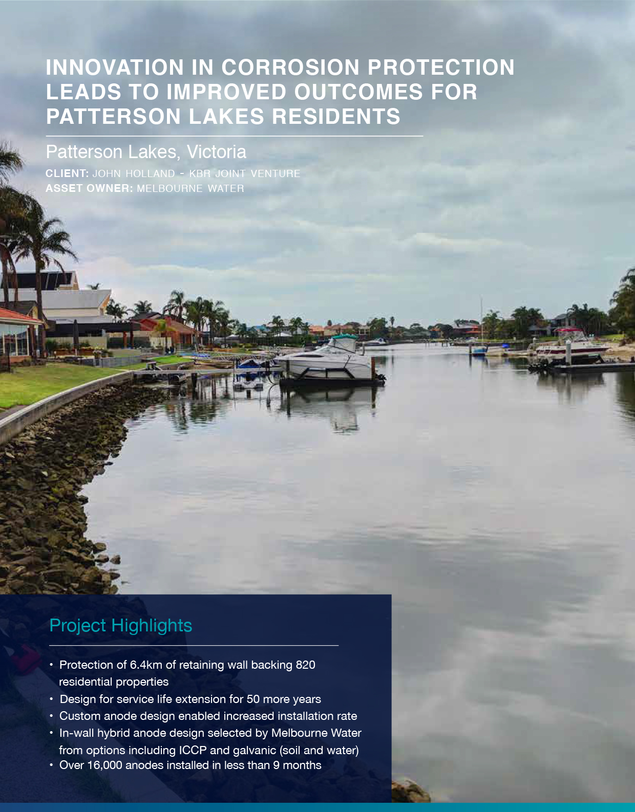 Click to view  Patterson Lakes  Case Study