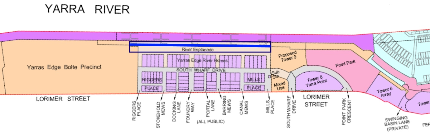 Yarras Edge Location Map