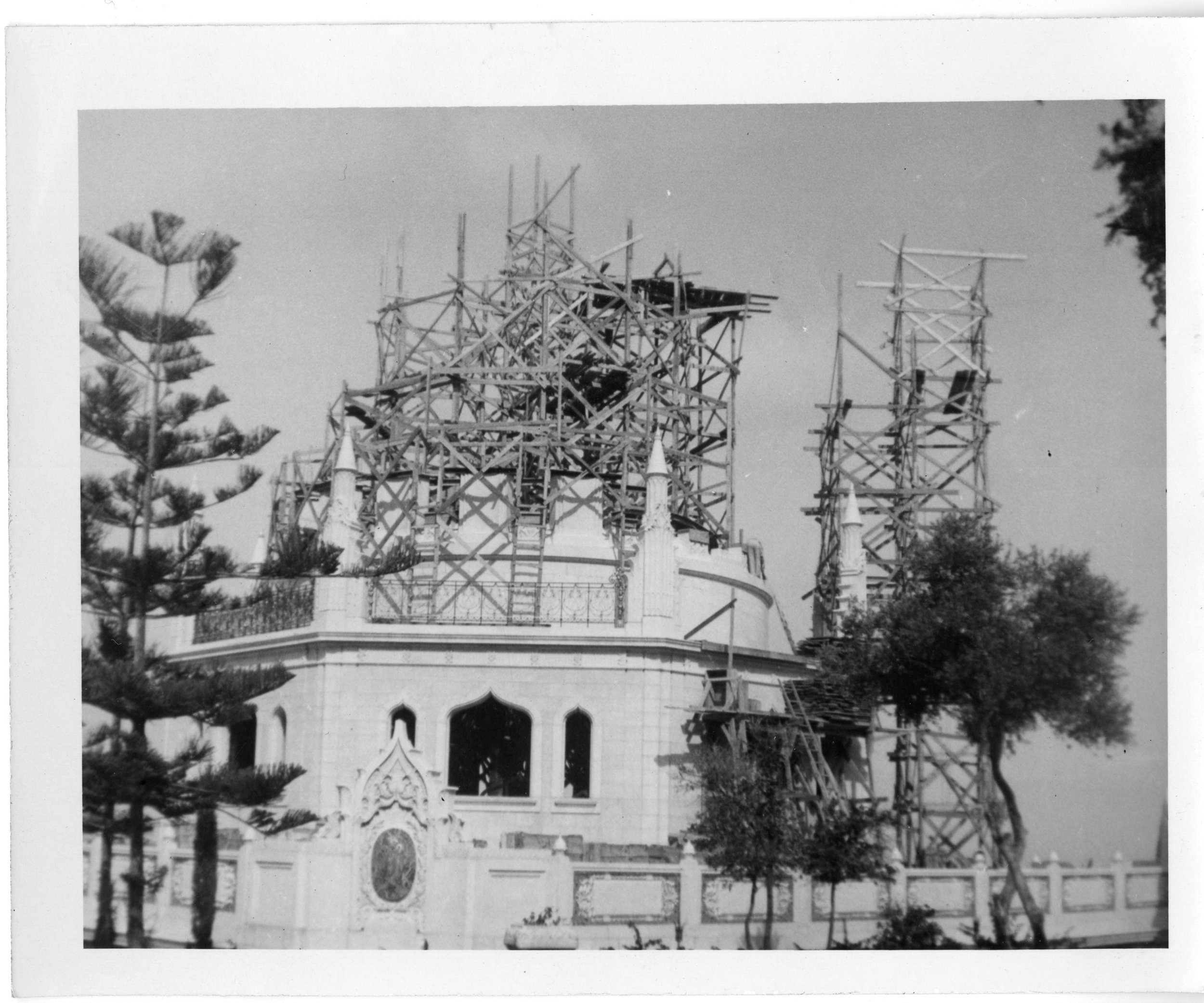 Photo: The superstructure under construction in the 1950s. (Photo: USBNA)