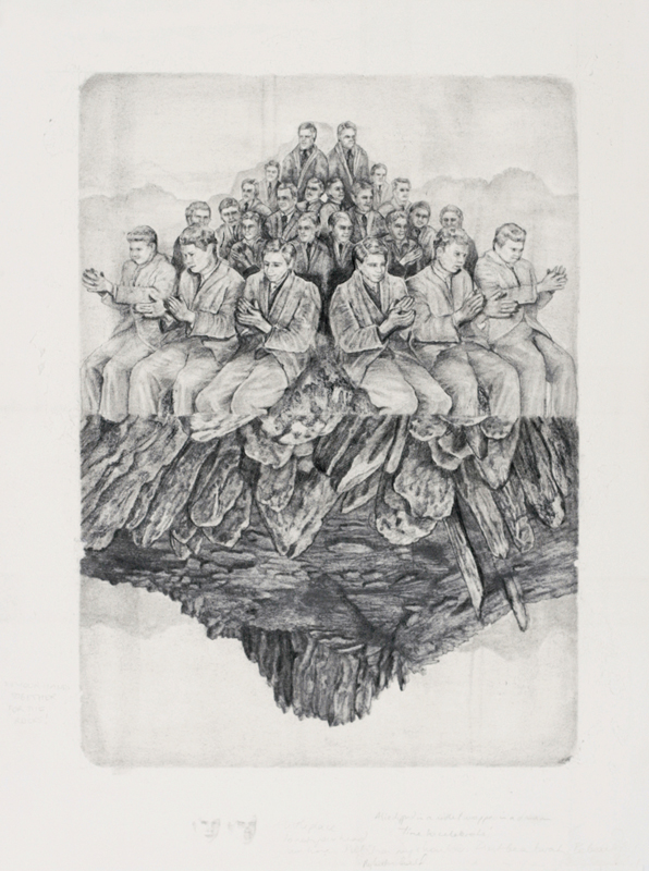 'My other half' -graphite and carbon pencil on layered watercolour paper, 41x55cm, 2012