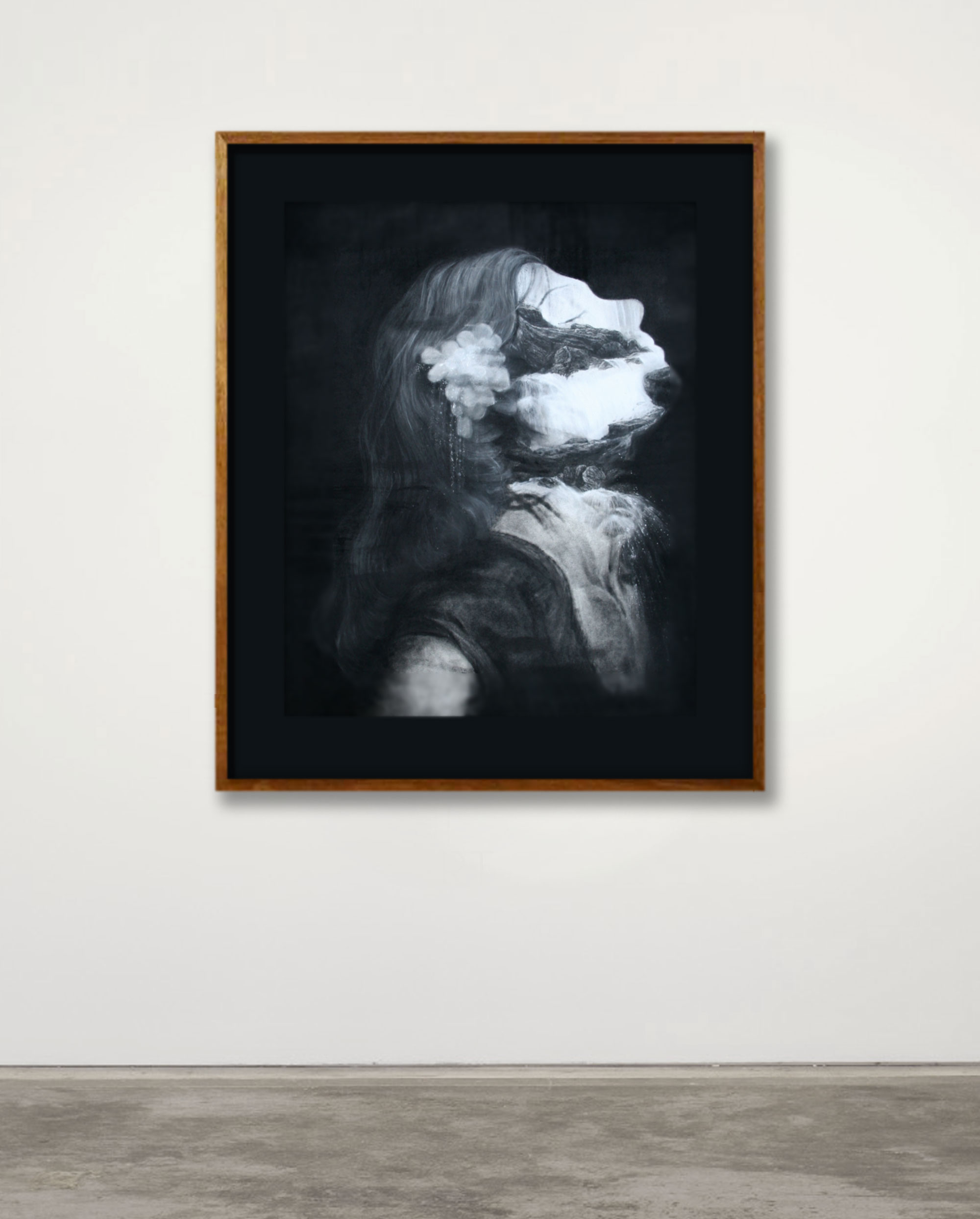 Installation View 'Lay of the Land' - charcoal, pastel, chalk, carbon on paper 64 x 81cm, 2013