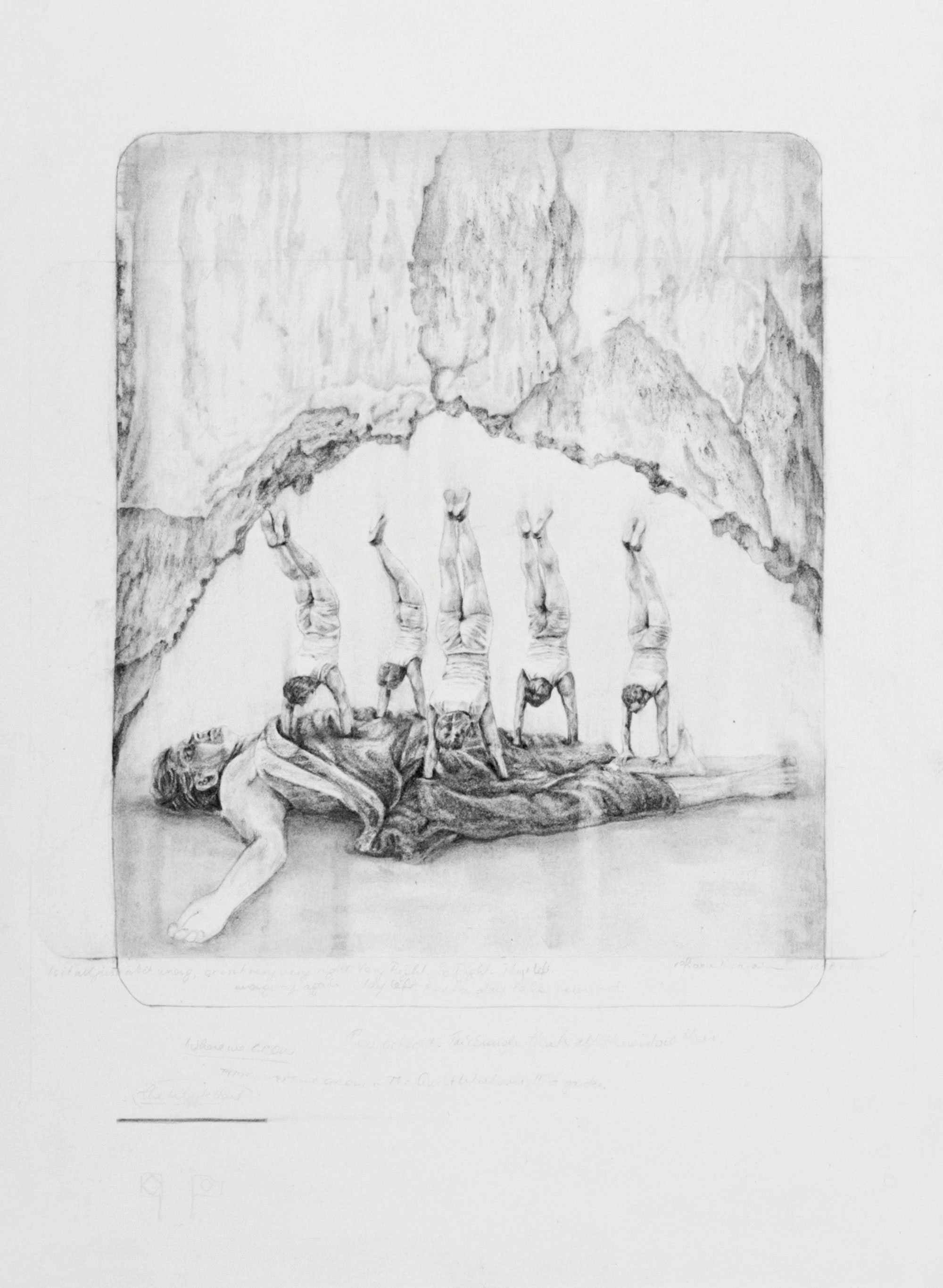 The Quiet Walkover - graphite pencil and carbon pencil on paper, 28 x 38 cm, 2011