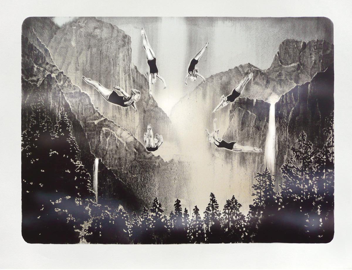 'Dive Fest' - lithograph, edt 4, 60x48cm, 2011