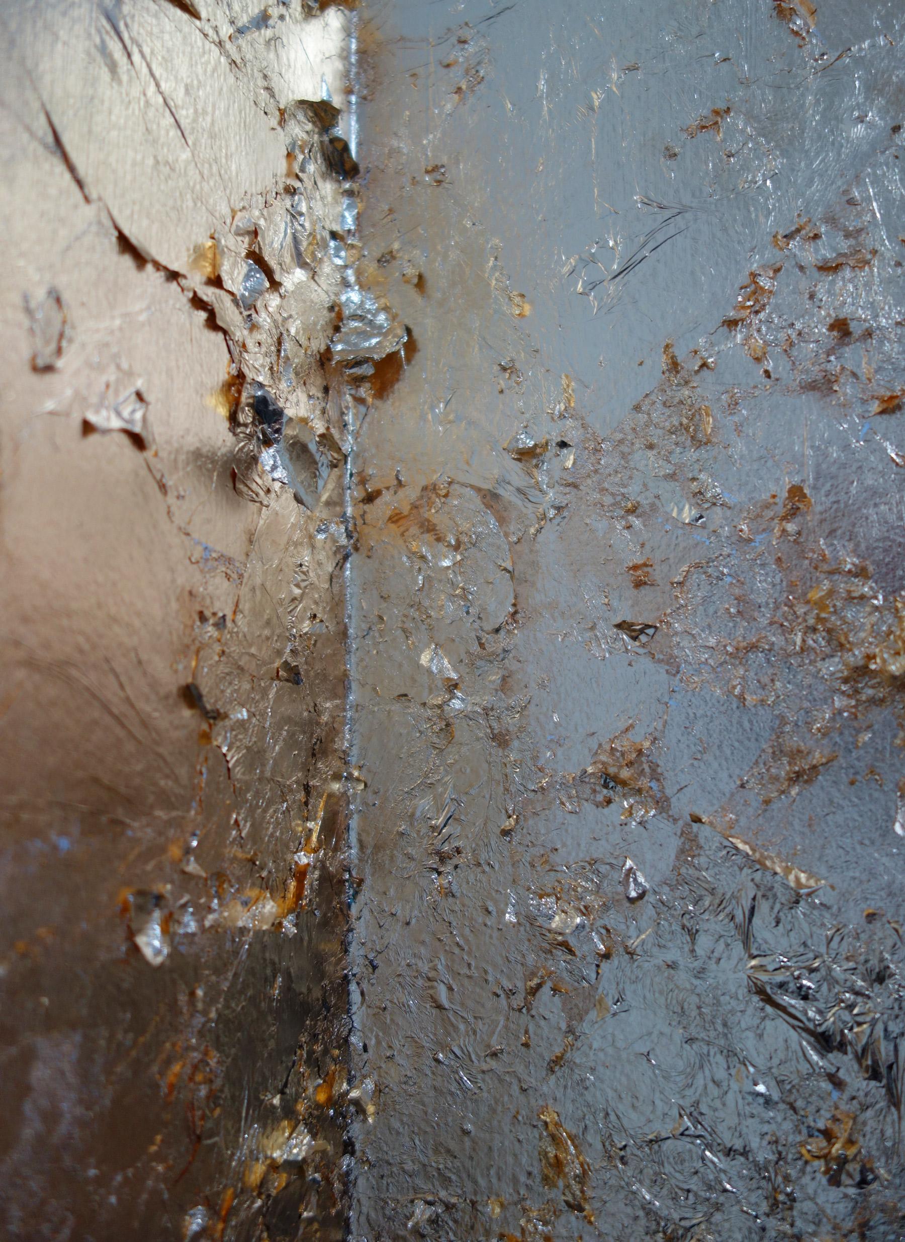 gold leaf mural detail at Stockroom Kyneton