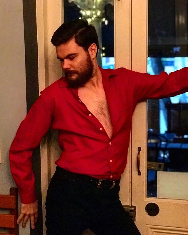 """Tonight's waiters will be dressed in theme of """"Over 50s Flamenco mixer instructors"""". Why? 🤷♂️ 💃 🔥"""