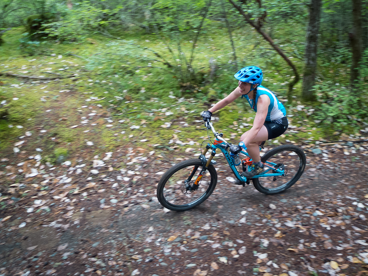 Marissa feeling strong on the mountain bike course