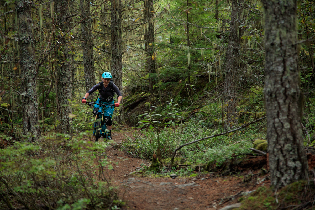 Nina Arnold Riding Whistler by Mitch Winton