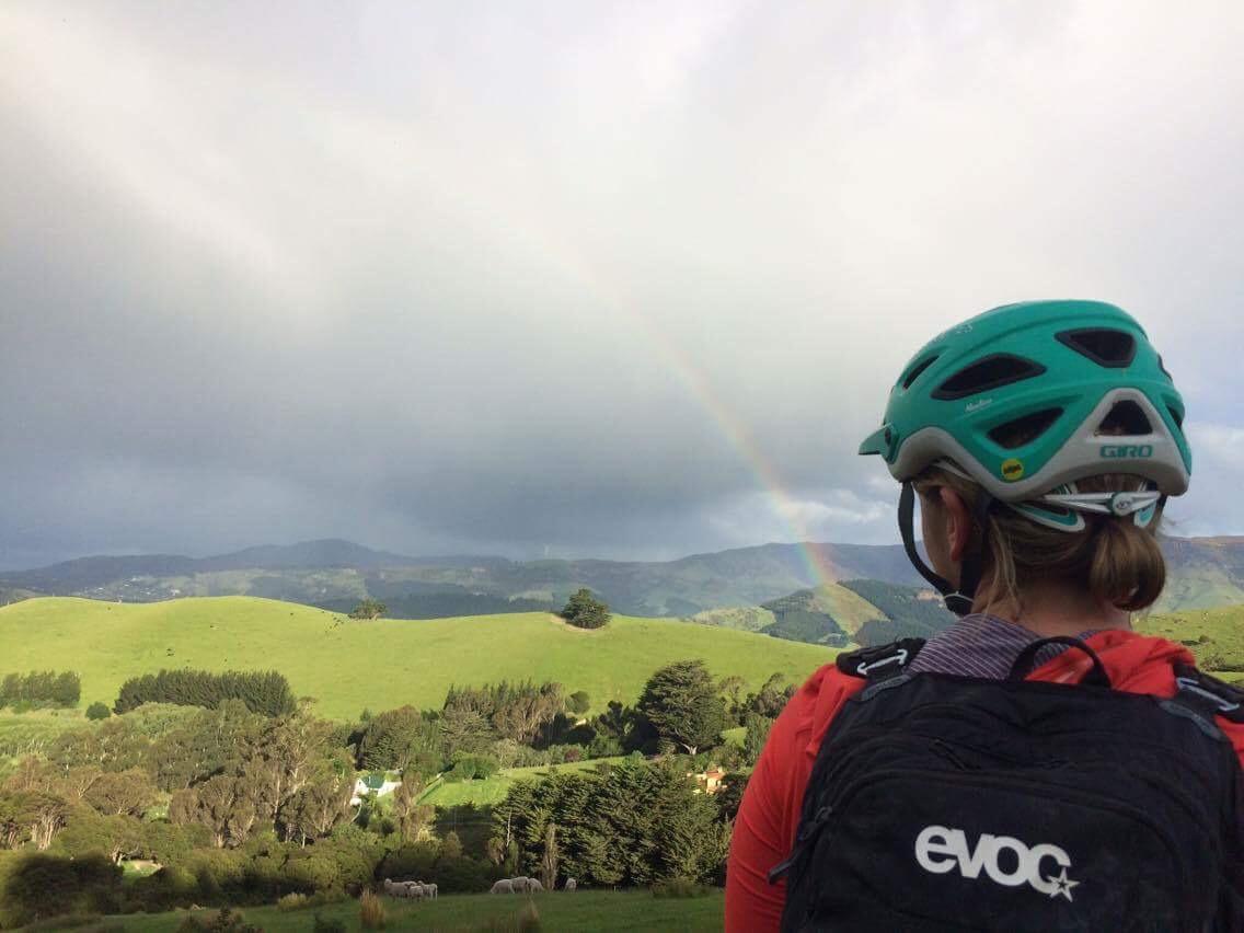 Rad little rainbow after the storm ||    Photo: Dan Harmon