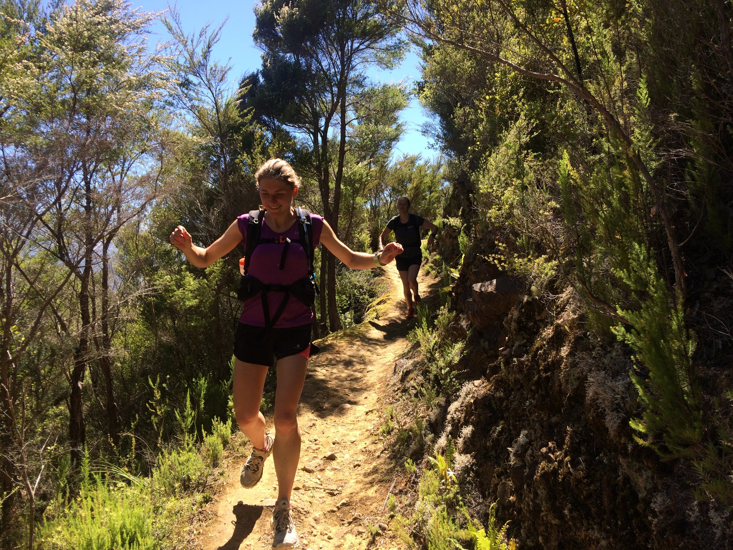 Mid-Downhill on our Nydia Track trail run