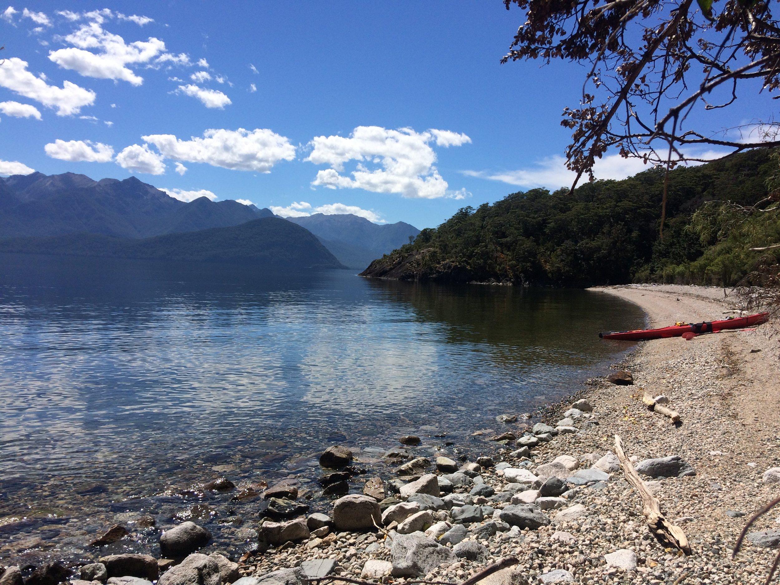Kayaking Overnight Trip on Lake Manapouri