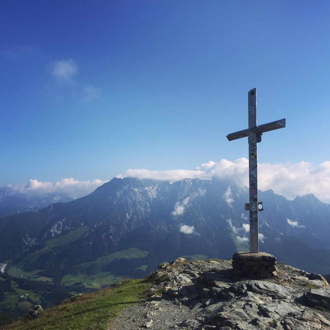 Days before kicking off Crankworx Innsbruck we had a chance to trail run to this spectacular view in Leogang, Austria.