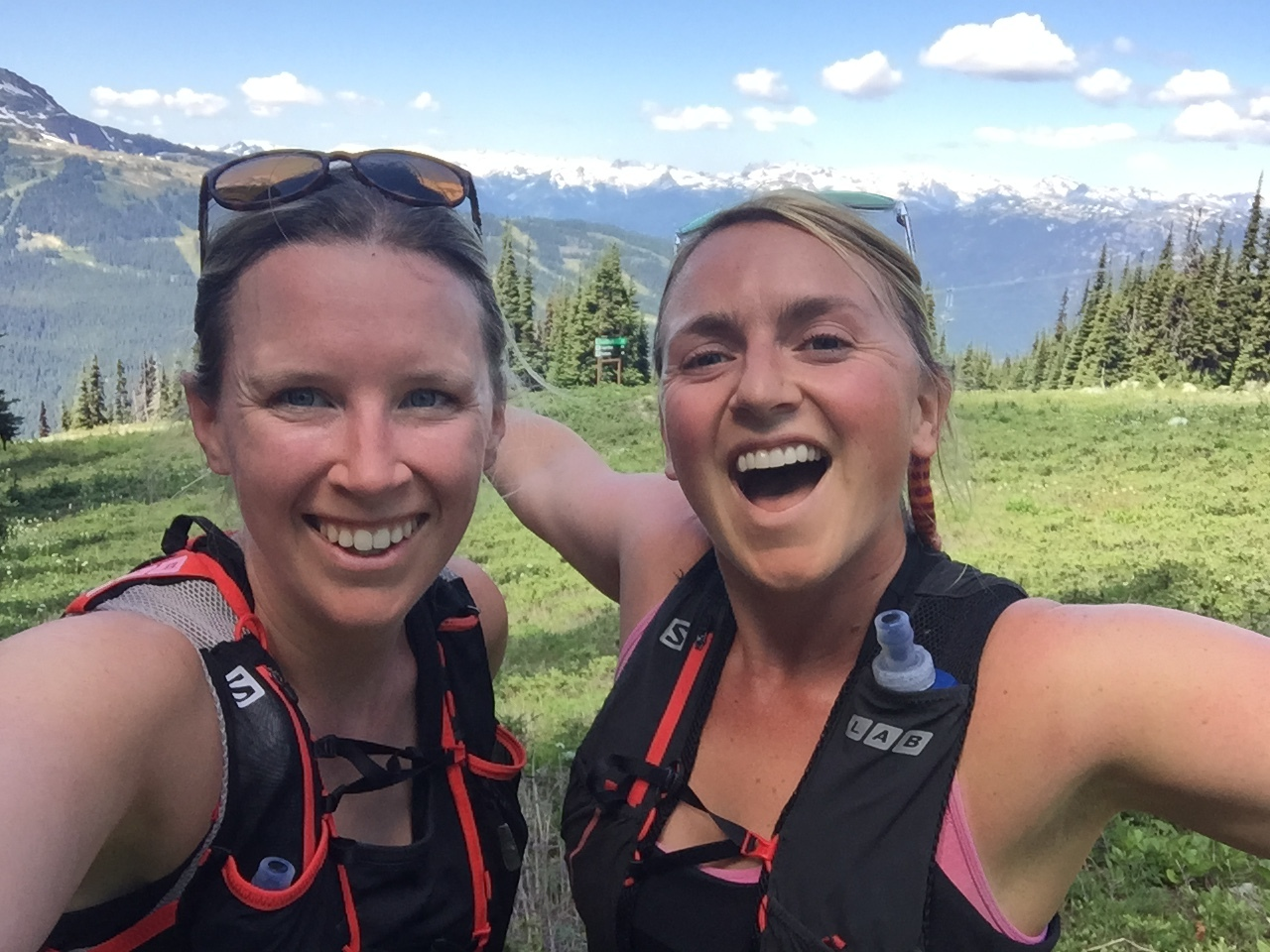 The result of harnessing good stress on a Blackcomb Mountain Trail Run with Liz