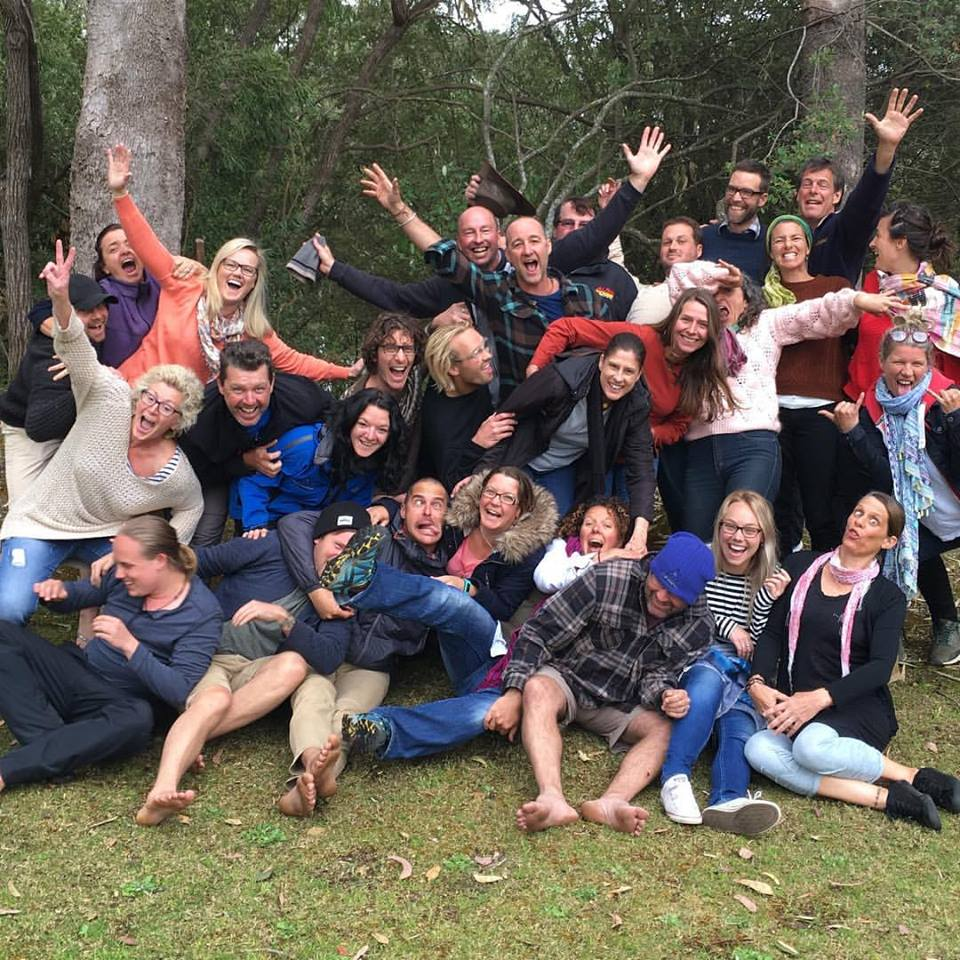 A 'fun' shot with fellow facilitators on our training with Dr Arne Rubinstein*
