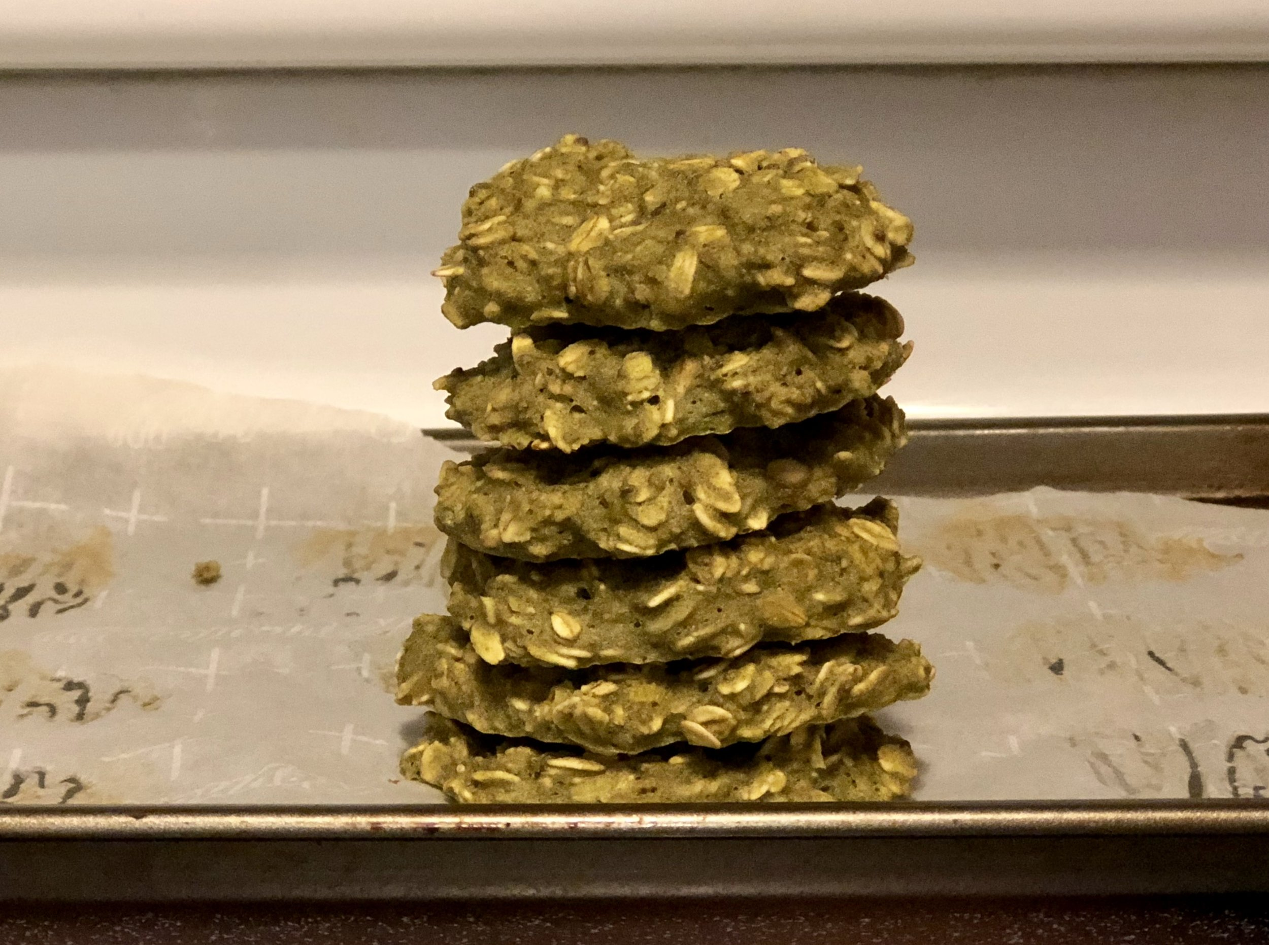 Green juice turned into cookies. Easy and a nutritious afternoon snack!