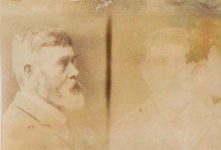 Henry Lyfields mugshot, 1897. VPRS 516/P1, Unit 51.