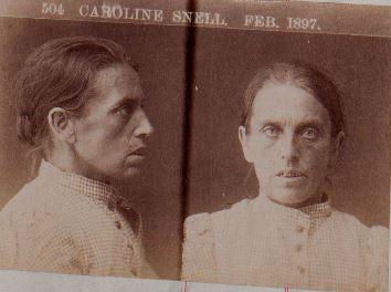 Caroline Snell's mugshot, 1897. VPRS 516/P2, Unit 12
