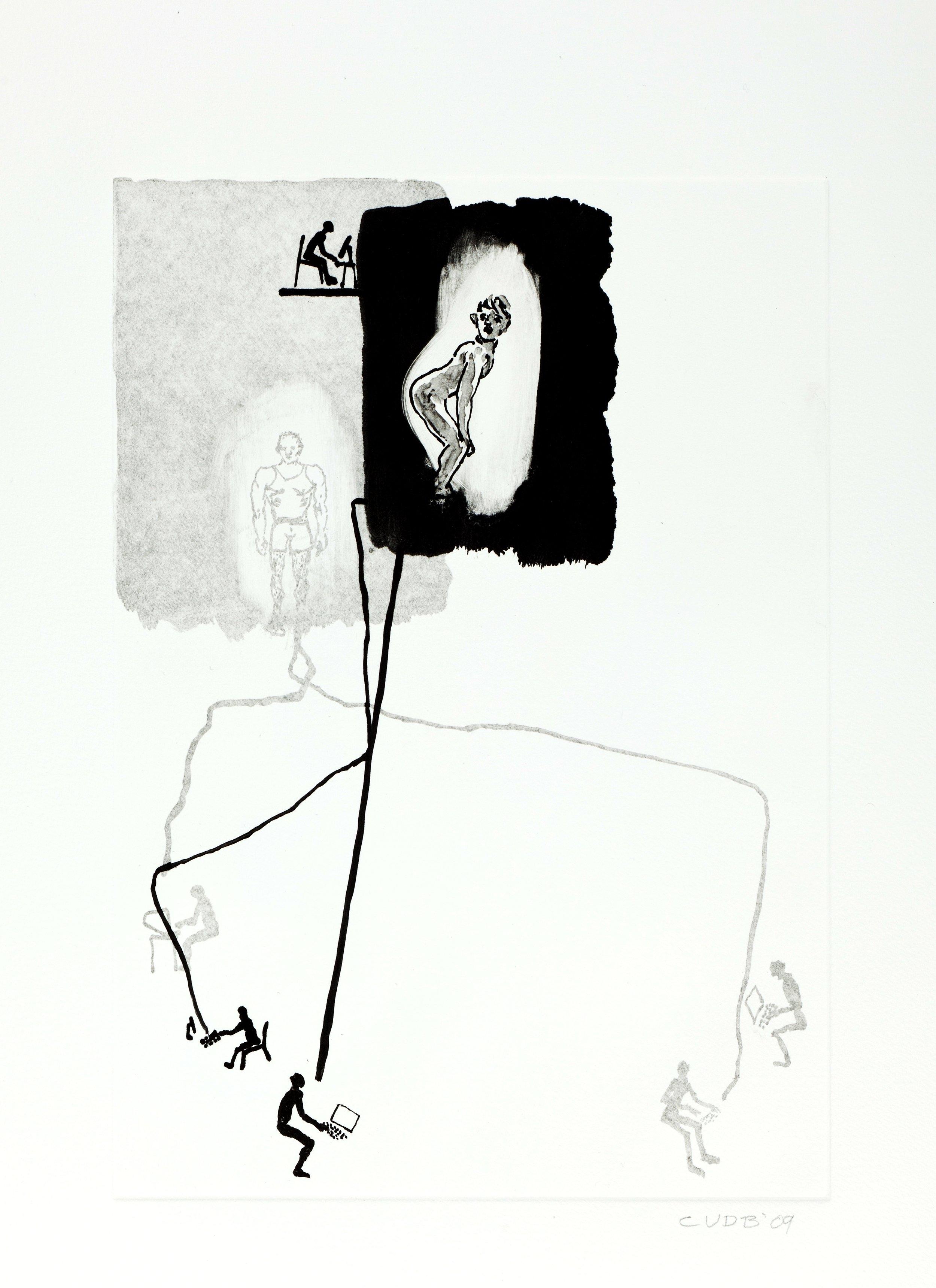 CLIVE VAN DEN BERG     Cyber Erotics II, 2009    Monotype print  76cm x 56cm