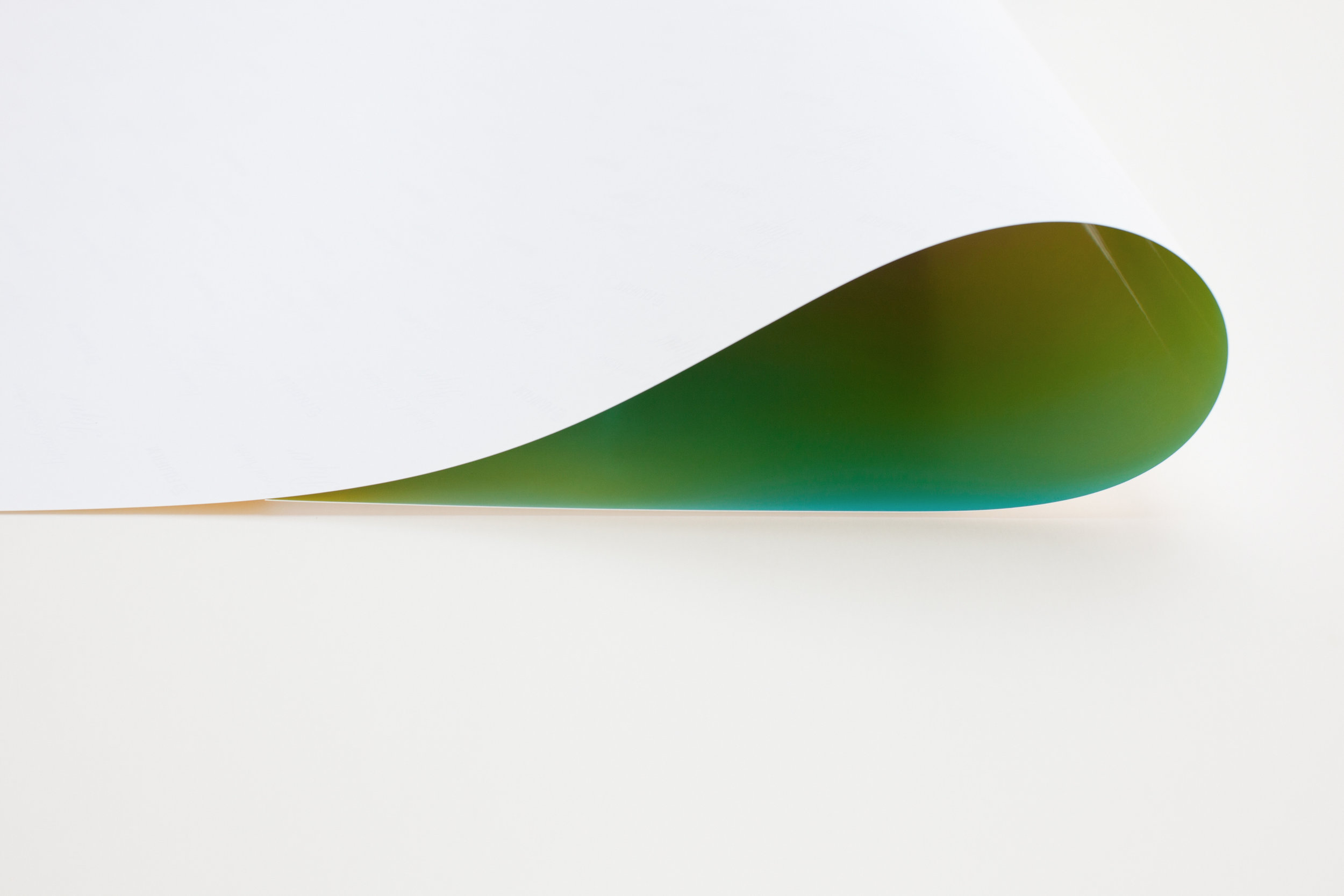 WOLFGANG TILMANS     Paper drop green II, 2011    Inkjet print on paper mounted on aluminium  74.4cm x 93cm